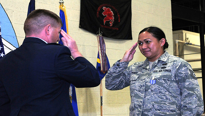 RED HORSE Airmen receive awards after first all-guard deployment