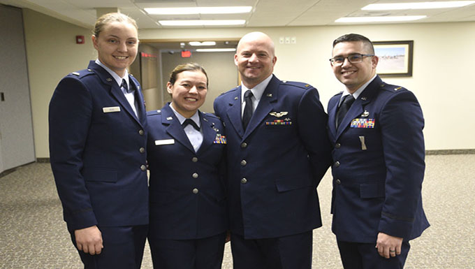 Four lieutenants promoted at 120AW